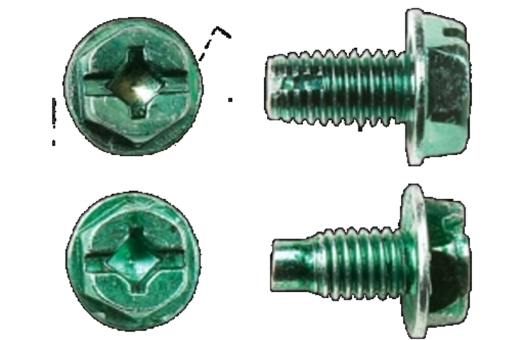 Hero gnd screw   2 phillips  hex washer  cutting point