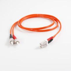 Thumb 416 duplex fiber cable len 3 ft org sc plg quiktron