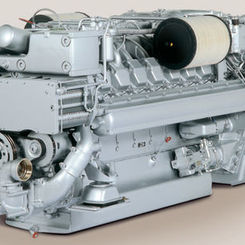 Thumb 233 400 kw marine propulsion diesel engine  model 8v 2000 m61  mtu