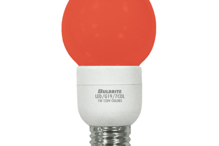 Hero 332 led light bulb 1 wtt 120 v g19  bulbrite industries
