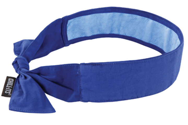 Hero 607 chill its cooling bandana sz univ blu  ergodyne