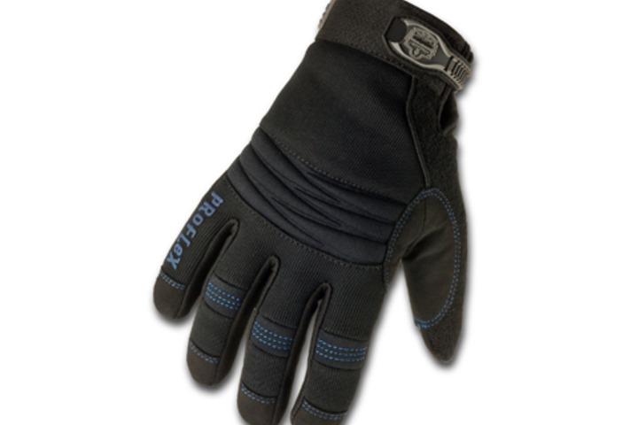 Hero 606 proflex gloves sz xl blk gauntlet cuff  ergodyne