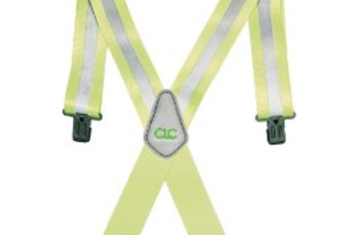 Hero 640 tool works hi viz work suspender 2 in w  custom leathercraft
