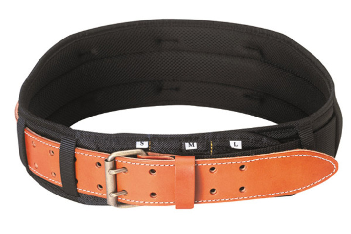 Hero 665 padded comfort belt 5 in w  custom leathercraft