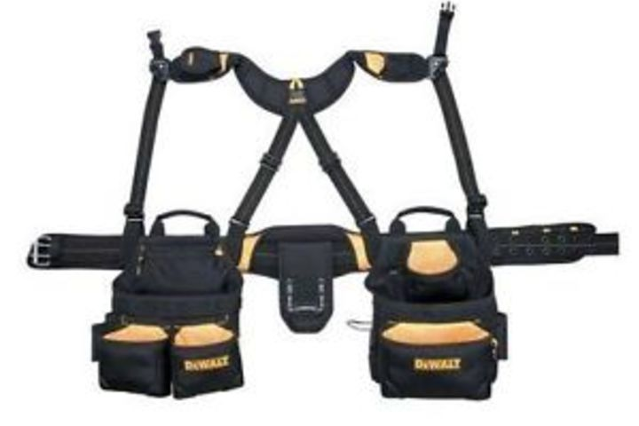 Hero 665 apron and yoke style suspender blk nyl  custom leathercraft