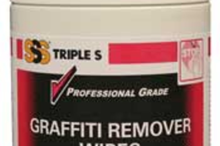 Hero 631 72 ct gr graffiti remover wipe canister american polywater corp.
