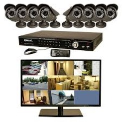 Thumb 434 h.264 8 ch dvr w 1 tb hd  18.5 monitor  8 wired cmos 600 tvl color cameras  day night  auto ir brk electronics