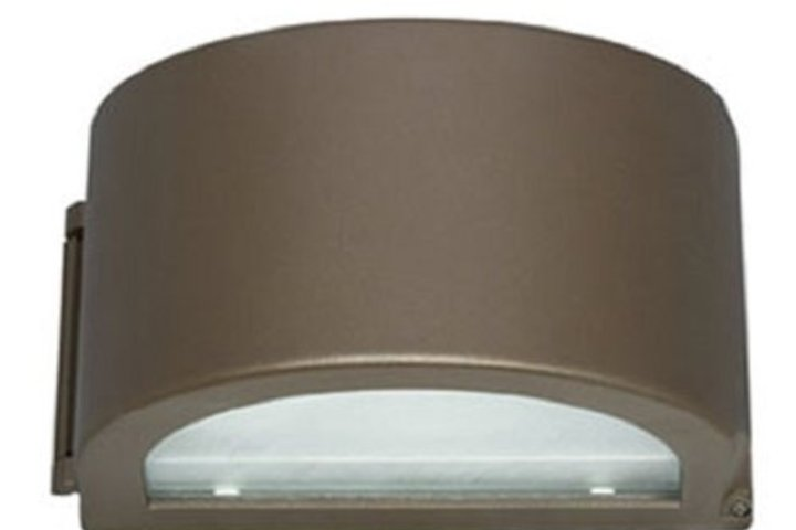 Hero 332 wall sconce trapezoid 13 led 5000k brz hubbell lighting