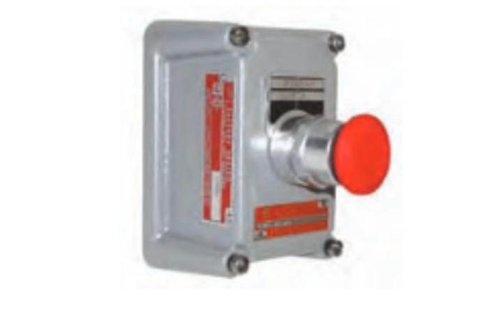 Hero 414 single mom pushbutton red mush 1no 1nc  hubbell lighting