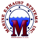 Small thumb marine exhaust systems